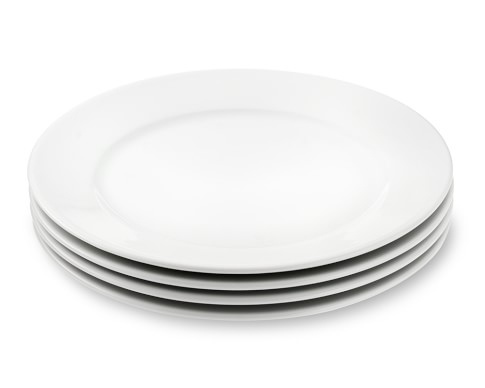Apilco Tradition Porcelain Dinner Plates, Set of 4