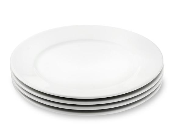 Apilco Tradition Porcelain Dinner Plates, Set of 4