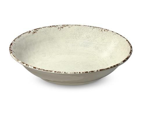 Rustic Melamine Serving Bowl, Ivory