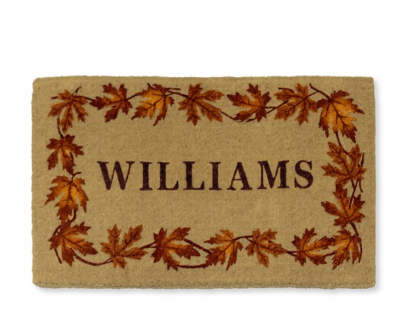 Personalized Leaf Coir Doormat, 22