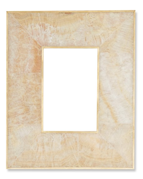 Revised Brass Bordered Stone Picture Frame, 4