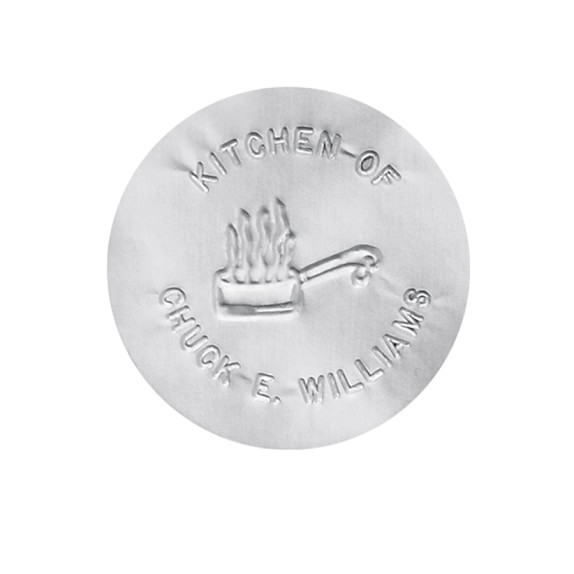 Round Foil Stickers, Silver, Set of 100