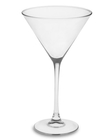 Plain Martini Glasses, Set of 4