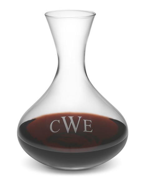 Monogrammed Decanter, Triple-Initial