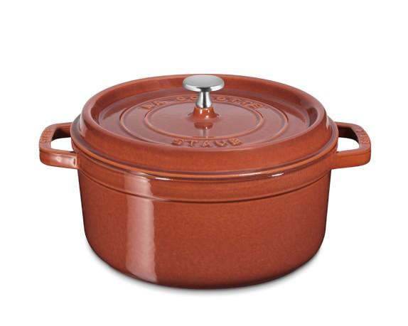 Staub Cast-Iron Round Cocotte, 4-Qt., Red