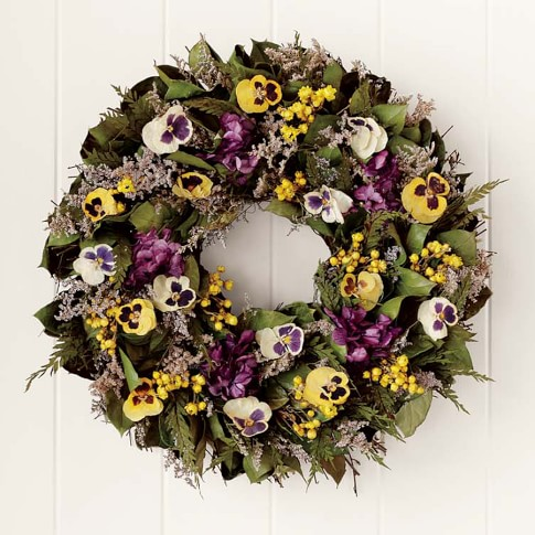 Preserved Pansy Wreath