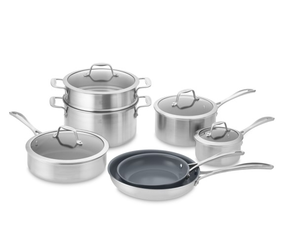 Zwilling Spirit Stainless-Steel Ceramic Nonstick 12-Piece Cookware Set