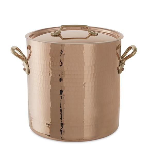 Mauviel Copper Stock Pot, 12 3/4