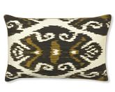 Silk Ikat With Piping Pillow Cover, 14