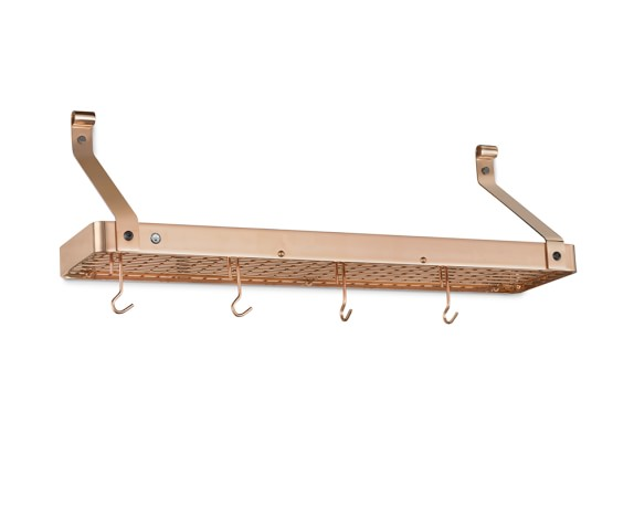 Enclume Narrow Shelf Pot Rack, Copper, 36