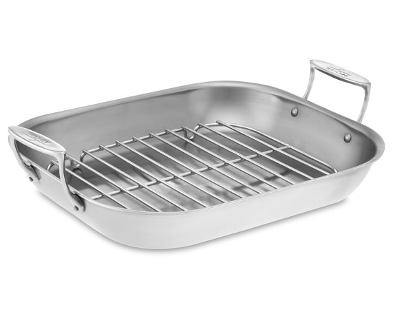 All-Clad Stainless-Steel Flared Roaster, Large