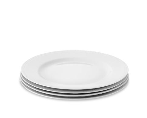 Apilco Beaded Hemstitch Porcelain Salad Plates, Set of 4