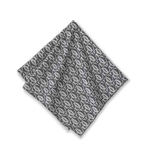 Williams-Sonoma Monogram Jacquard Napkins, Set of 4, Antique White/Black