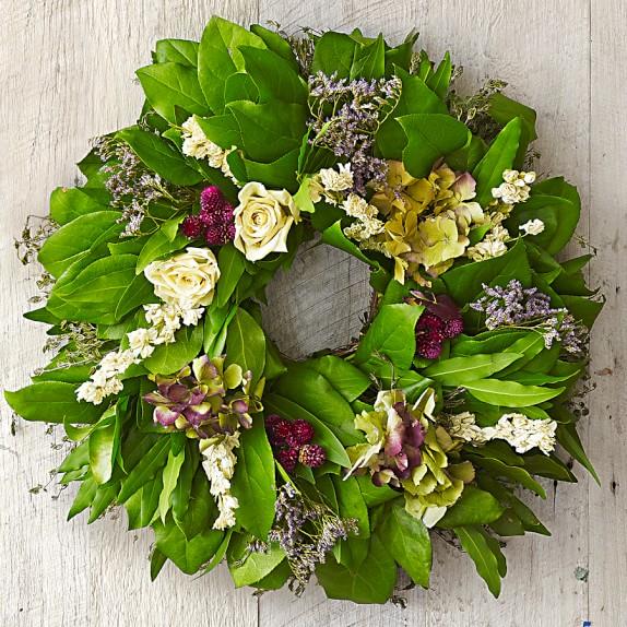 Hydrangea & Salal Wreath, 18
