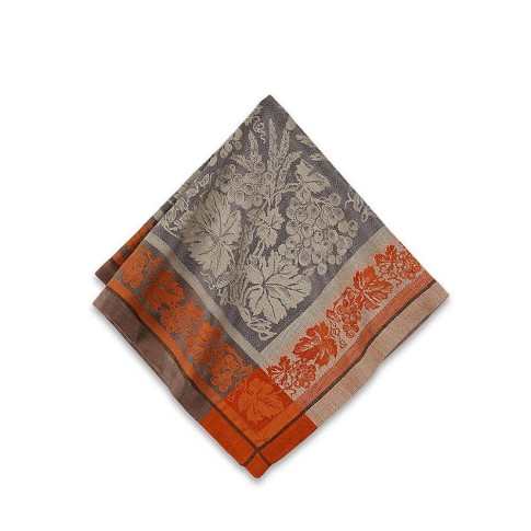 Wine Country Harvest Jacquard Napkins, Set of 4, Charcoal