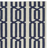 Graphic Link Indoor/Outdoor Rug Swatch, Dress Blue / Egret