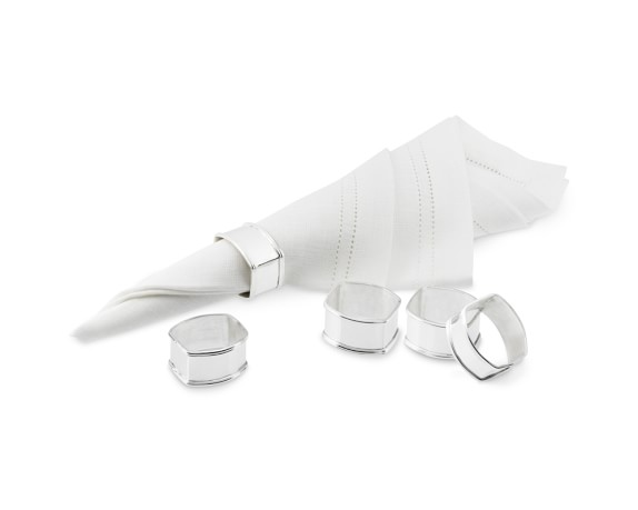 Presidio Silver Plated Napkin Rings, Set of 4