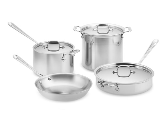 All-Clad Tri-Ply Stainless-Steel 7-Piece Cookware Set