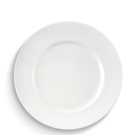Brasserie All-White Porcelain Salad Plates, Set of 4