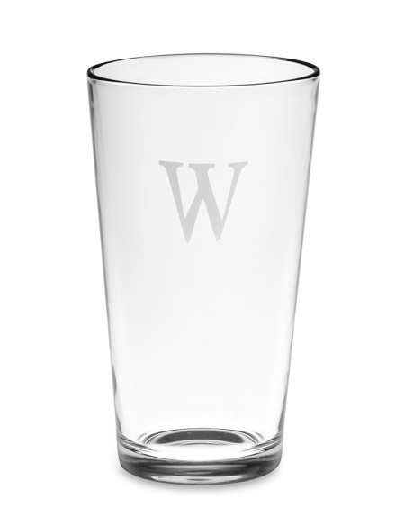 Monogrammed Pint Glasses, Single-Initial, Set of 4