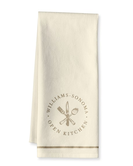 Williams-Sonoma Open Kitchen Logo Towel, Khaki