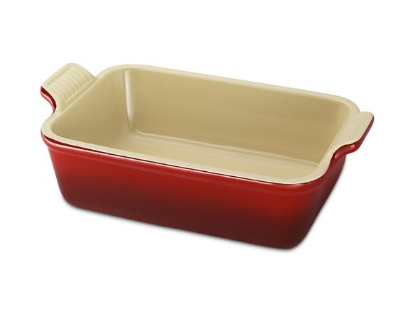 "Le Creuset Heritage Stoneware Rectangular Dish, 5"" x 7"", Red"