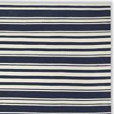 Riviera Stripe Indoor/Outdoor Rug Swatch, Dress Blue/Egret