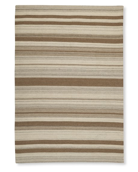 Saddle Blanket Dhurrie Rug, Multi Stripe, 8' X 10', Desert