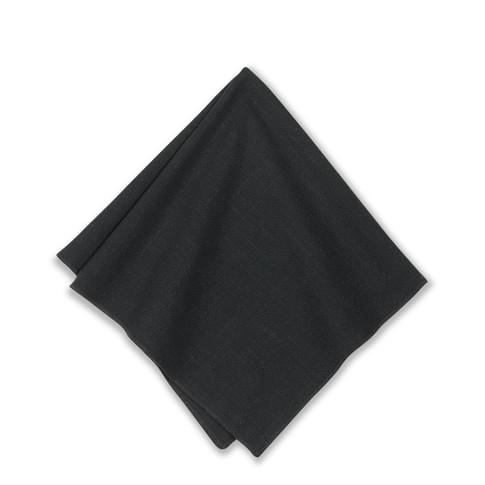 Tonal Merrow Edge Napkin, Black