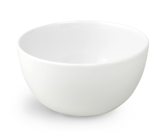 Brasserie All-White Porcelain Cereal Bowls, Set of 4