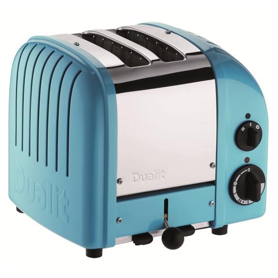 Dualit New Generation Classic 2-Slice Toaster, Azure Blue