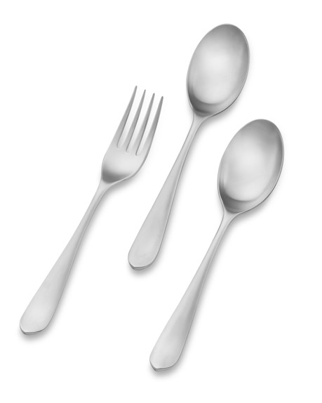 Flute Flatware 3-Piece Serving Set