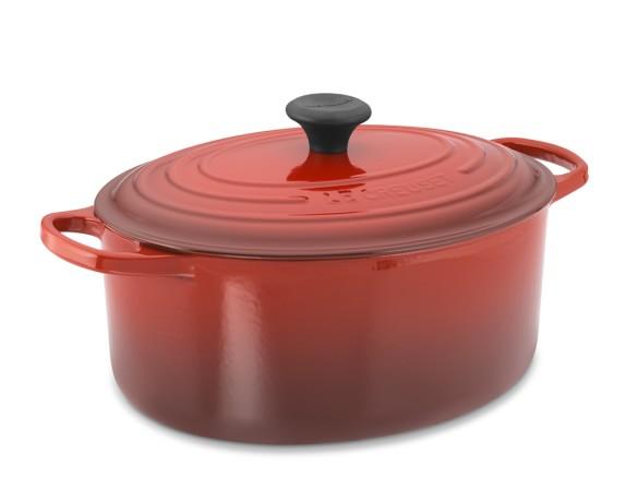 Le Creuset Signature Cast-Iron Oval Dutch Oven, 6 3/4-Qt., Red
