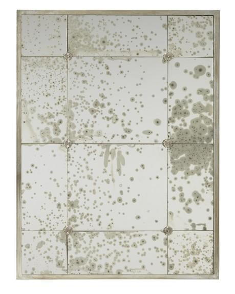 Tiled Iron Rosette Mirror