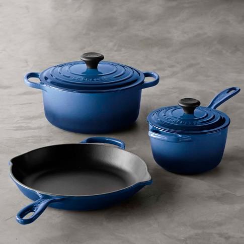 Le Creuset Signature Cast-Iron 5-Piece Cookware Set, Lapis