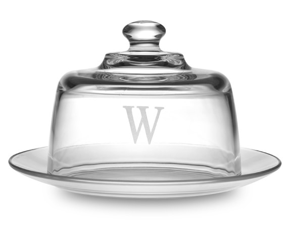 Monogrammed Cheese Server, Single-Initial