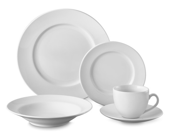 Brasserie All-White 5-Piece Place Setting