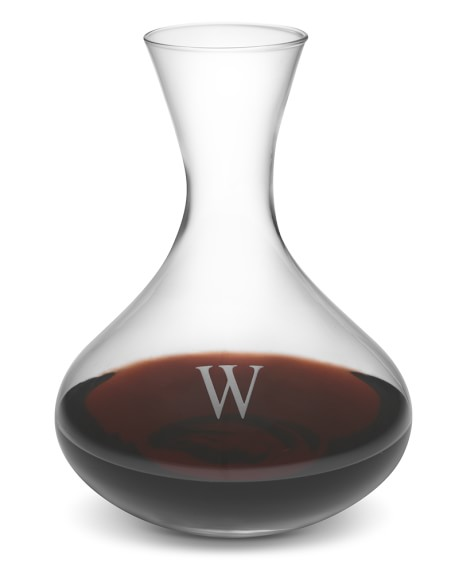 Monogrammed Decanter, Single-Initial