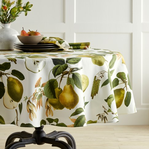 Botanical Pear Tablecloth, 70