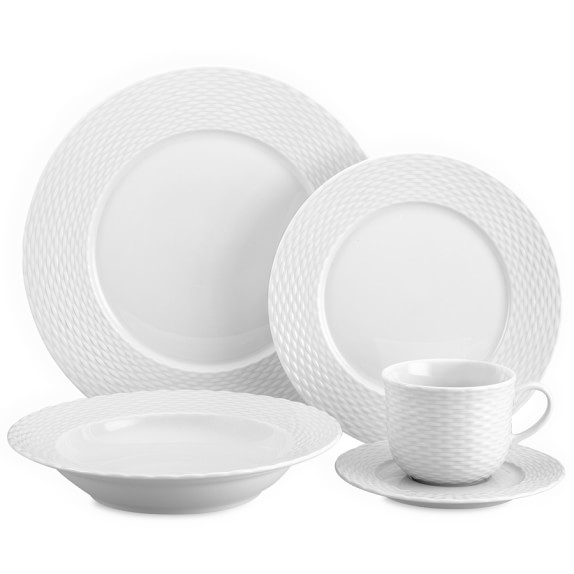 Pillivuyt Basketweave 5-Piece Place Setting