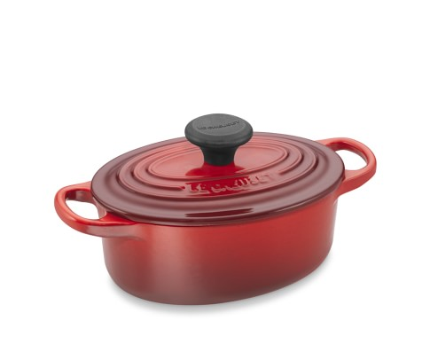 Le Creuset Signature Cast-Iron Oval Dutch Oven, 1-Qt., Red