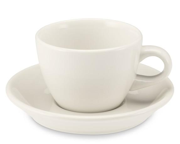 Buffalo China Cups & Saucers, Set of 4