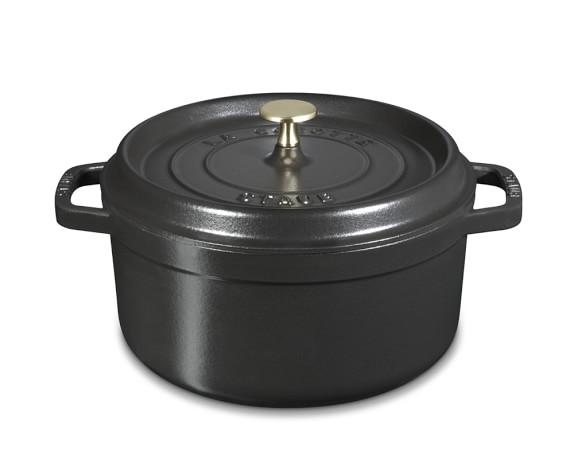 Staub Cast-Iron Round Cocotte, 4-Qt., Black