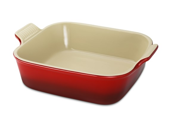 "Le Creuset Heritage Stoneware Square Dish, 9"", Red"