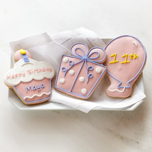 Personalized Giant Birthday Cookies for Her, Set of 3