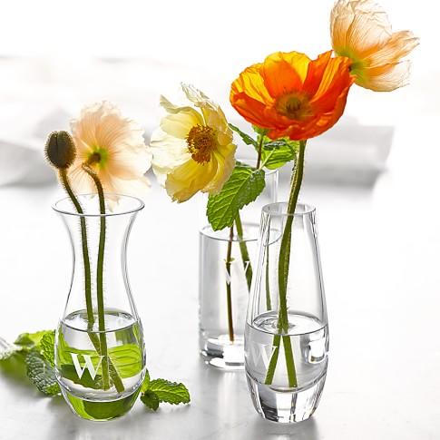 Glass Bud Vases, Set of 3