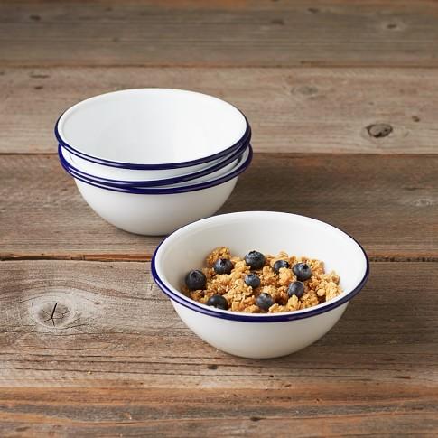 Enamelware Bowls, Set of 4