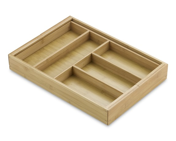 Bamboo Expandable Flatware Tray