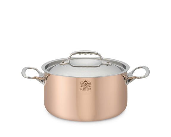 de Buyer Prima Matera Copper Soup Pot, 3 1/2-Qt.