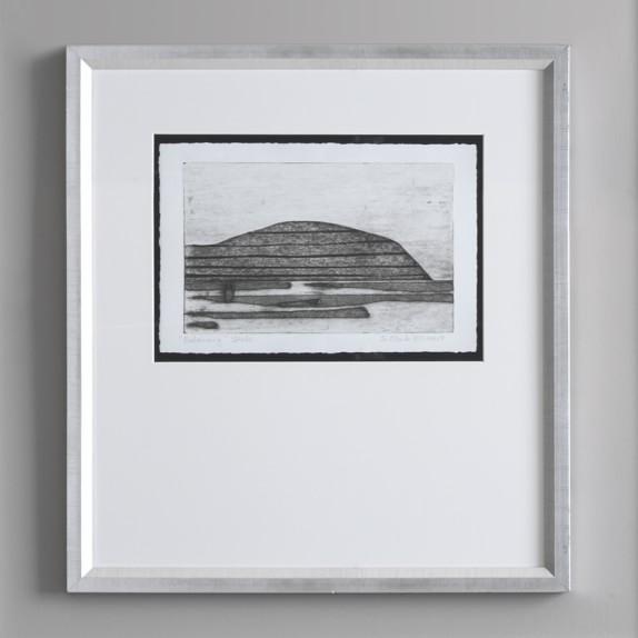 Charcoal Landscape Mountain Sketch